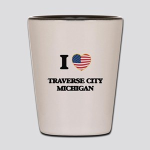 I love Traverse City Michigan Shot Glass