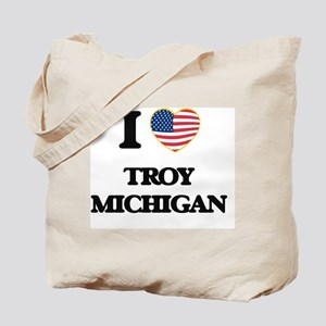 I love Troy Michigan Tote Bag