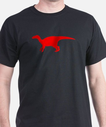 Iguanodon Silhouette (Red) T-Shirt