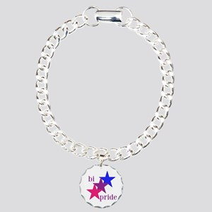 Bi Pride Stars Charm Bracelet, One Charm