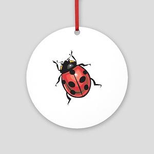 Lady Bug Ornament (Round)