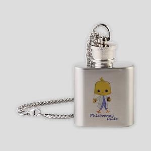 Phlebotomy Dude Flask Necklace