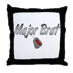USAF Major Brat ver2  Throw Pillow