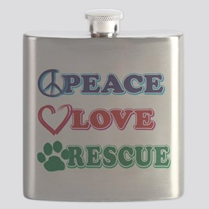 Peace Love Rescue Flask