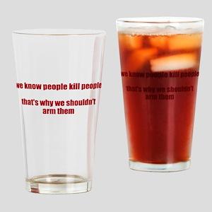 Hashtag Politics Drinking Glass