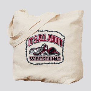 It's All About Wrestling Tote Bag