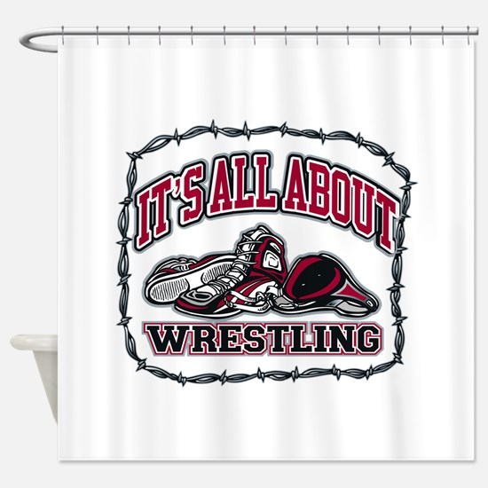 It's All About Wrestling Shower Curtain
