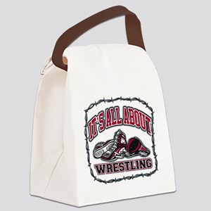 It's All About Wrestling Canvas Lunch Bag