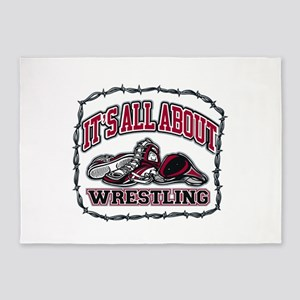 It's All About Wrestling 5'x7'Area Rug