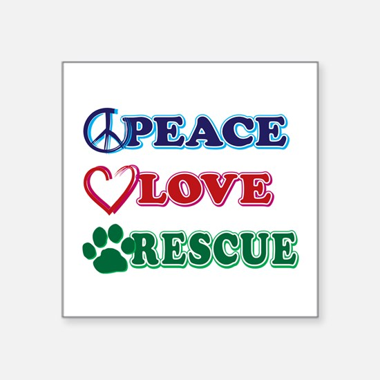 Peace Love Rescue Sticker