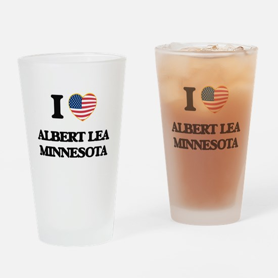 I love Albert Lea Minnesota Drinking Glass