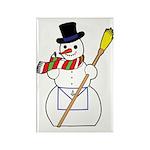 The Masonic Snowman Rectangle Magnet