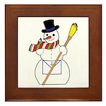 The Masonic Snowman Framed Tile