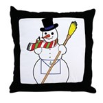 The Masonic Snowman Throw Pillow
