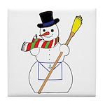The Masonic Snowman Tile Coaster