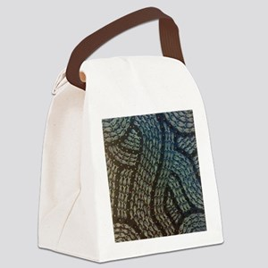 Black and White Fish Canvas Lunch Bag