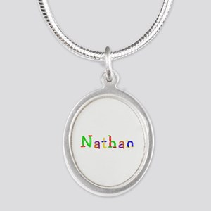 Nathan Balloons Silver Oval Necklace