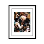 Dogs Framed Panel Print