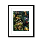 Frogs Framed Panel Print