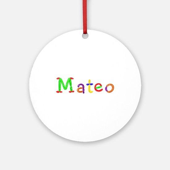 Mateo Balloons Round Ornament