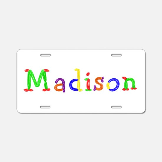 Madison Balloons Aluminum License Plate