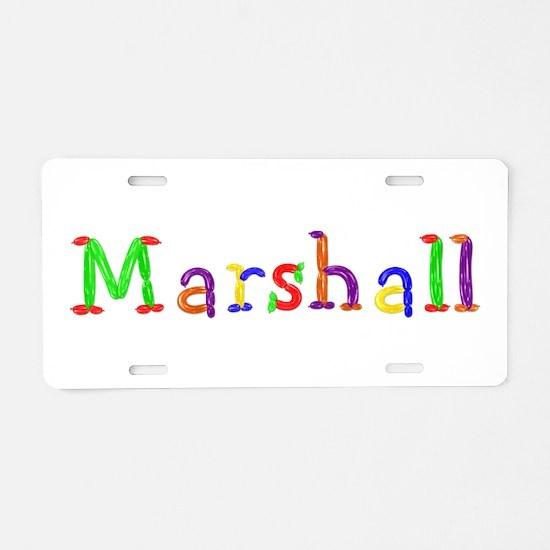 Marshall Balloons Aluminum License Plate