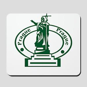 Prague Passport Stamp Mousepad