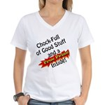 Free Prize Inside Women's V-Neck T-Shirt
