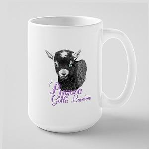 Pygora Goat Gotta Love 'em Large Mug