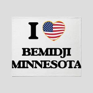 I love Bemidji Minnesota Throw Blanket