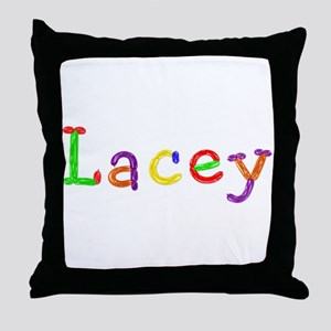 Lacey Balloons Throw Pillow