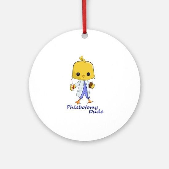 Phlebotomy Dude (round) Round Ornament