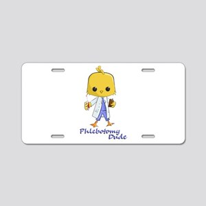 Phlebotomy Dude Aluminum License Plate