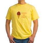 GIMME ICE CREAM Yellow T-Shirt
