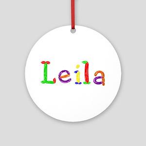 Leila Balloons Round Ornament