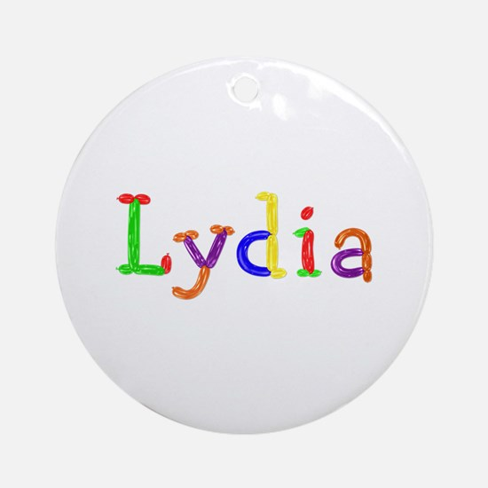 Lydia Balloons Round Ornament