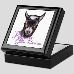 Pygmy Goat Gotta Love 'em Keepsake Box
