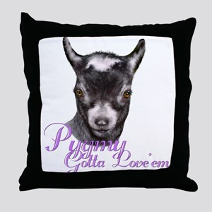 Pygmy Goat Gotta Love 'em Throw Pillow