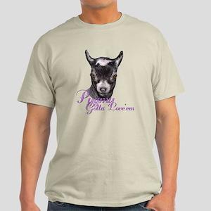 Pygmy Goat Gotta Love 'em Light T-Shirt
