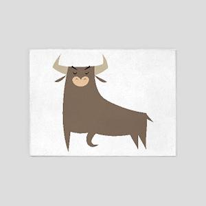 Bull 5'x7'Area Rug