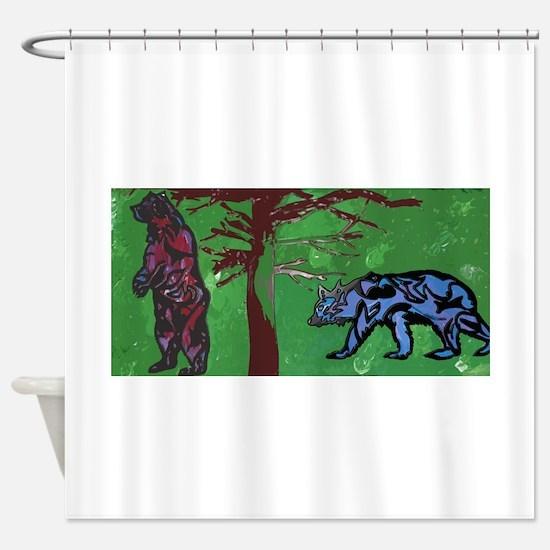 giant bears Shower Curtain