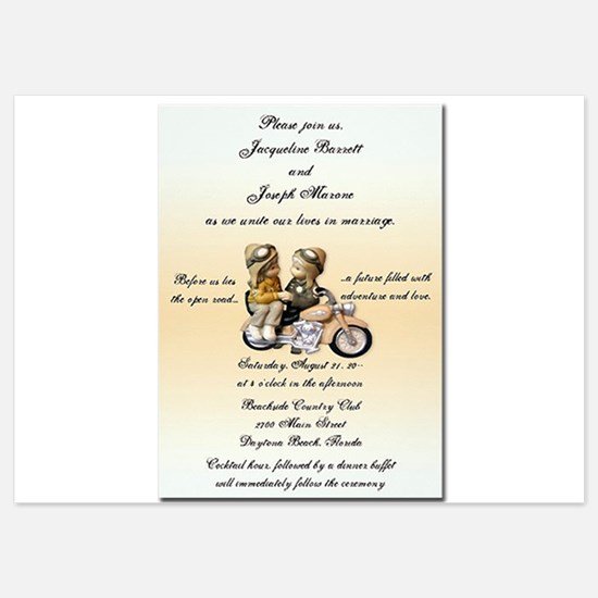 Motorcycle Love Invitations