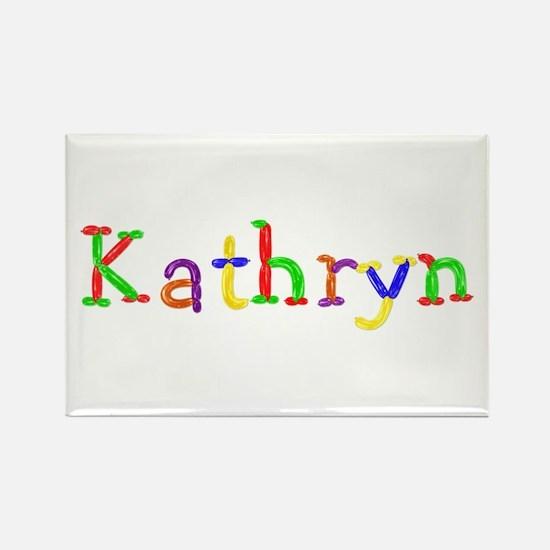 Kathryn Balloons Rectangle Magnet