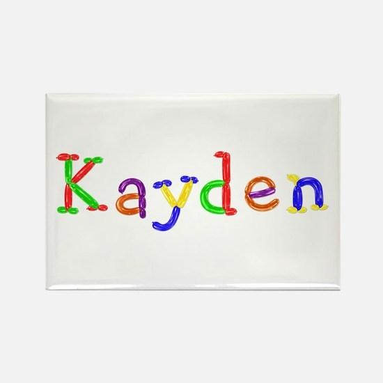 Kayden Balloons Rectangle Magnet