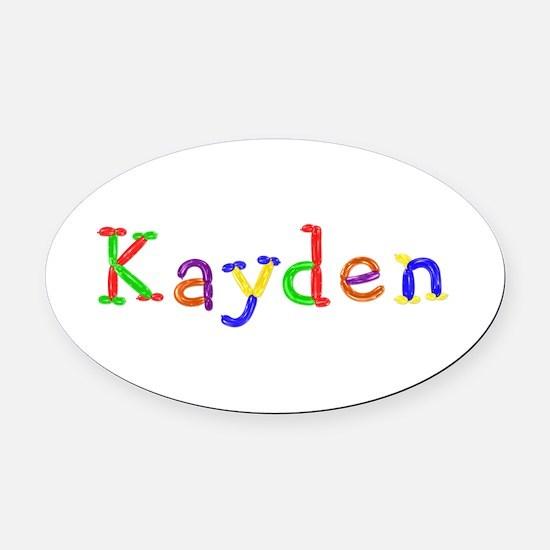 Kayden Balloons Oval Car Magnet