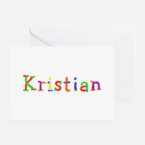 Kristian Balloons Greeting Card