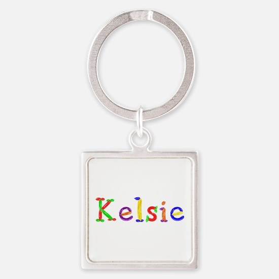 Kelsie Balloons Square Keychain