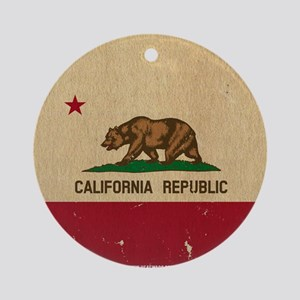 California State Flag VINTAGE Ornament (Round)