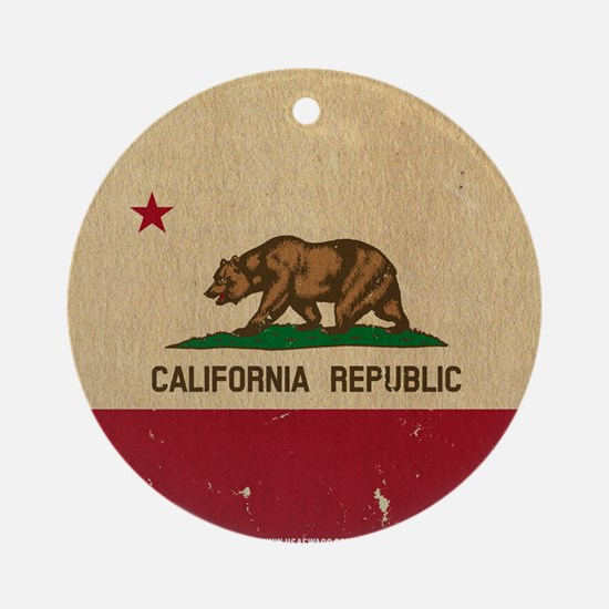 California State Flag VINTAGE Ornament (Round)