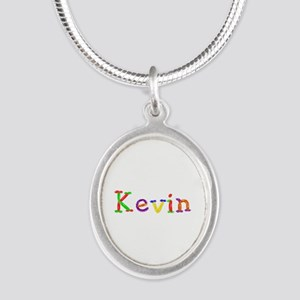 Kevin Balloons Silver Oval Necklace